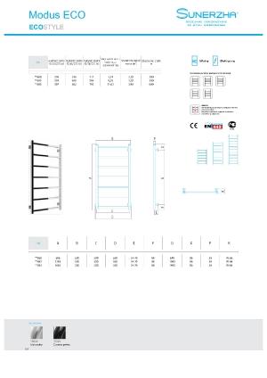 Katalog Sunerzha 2017 - Modus ECO - dane techniczne
