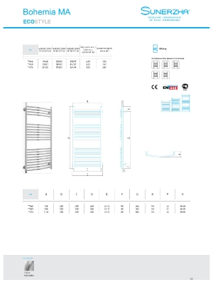 Katalog Sunerzha 2017 - Bohemia MA - dane techniczne