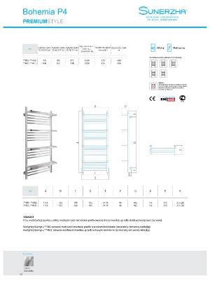 Katalog Sunerzha 2017 - Bohemia P4 - dane techniczne