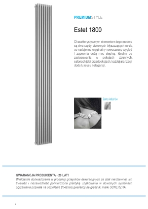 Katalog Sunerzha 2017 - grzejnik Estet 1800