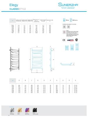 Katalog Sunerzha 2017 - Elegy - dane techniczne