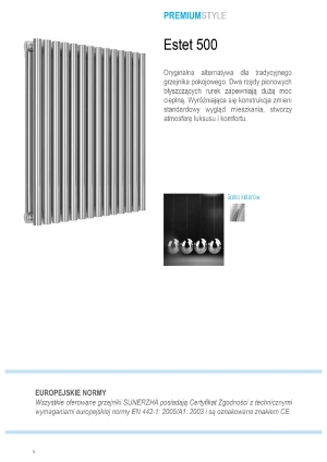 Katalog Sunerzha 2017 - grzejnik Estet 500